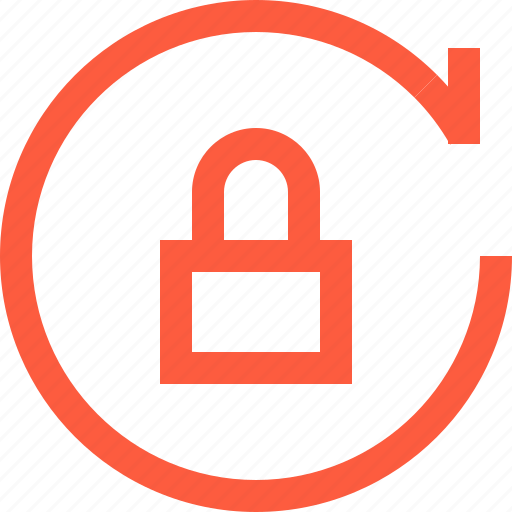 lock, operation, padlock, pass, secure, sync, synchronization icon