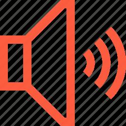 audio, command, on, sound, speaker, up icon