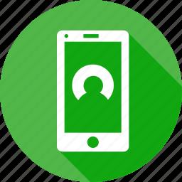 account, app, card, login, mobile, profile, user icon