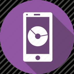 analysis, gauge, measure, mobile, performance, piechart, statics icon