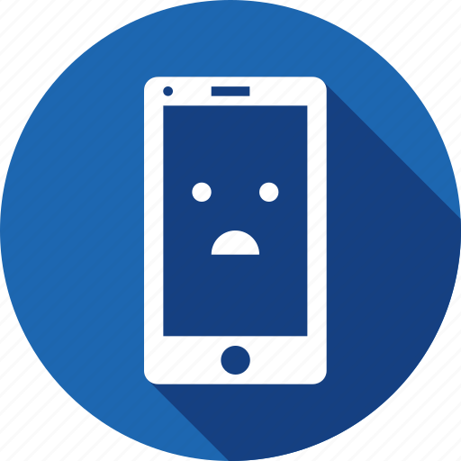 application, browser, confuse, emoji, error, mobile, smiley icon