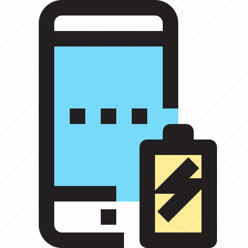 app, battery, charge, contact, mobile, smartphone icon