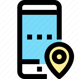 app, contact, location, mobile, smartphone icon