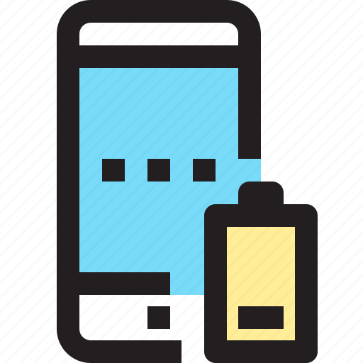 app, battery, contact, low, mobile, smartphone icon
