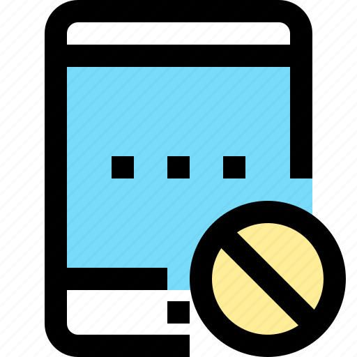 app, ban, contact, mobile, smartphone, tablet icon