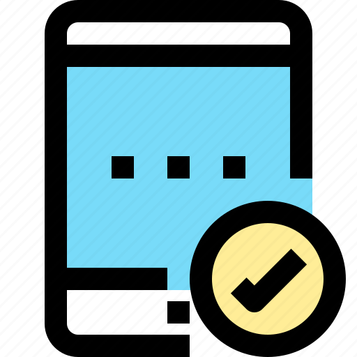 app, check, contact, mobile, smartphone, tablet icon