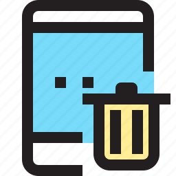 app, contact, delete, mobile, smartphone, tablet icon