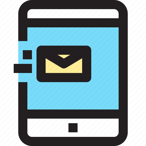 app, contact, e, mail, mobile, smartphone, tablet icon