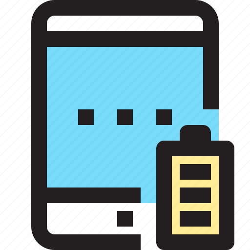 app, battery, contact, full, mobile, smartphone, tablet icon