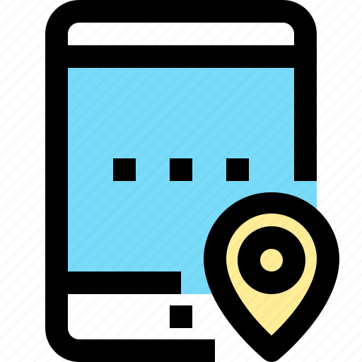 app, contact, location, mobile, smartphone, tablet icon