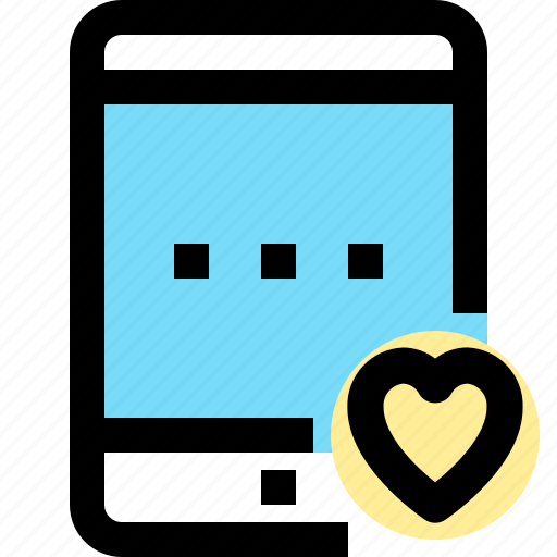 app, contact, love, mobile, smartphone, tablet icon