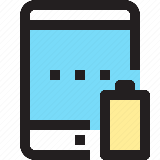 app, battery, contact, low, mobile, smartphone, tablet icon
