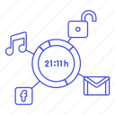 schedule, remaining, app, usage, mobile, consumption, smartphone, phone, battery, time, apps icon