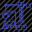 app, application, cone, construction, crane, development, mobile, phone, smartphone, traffic