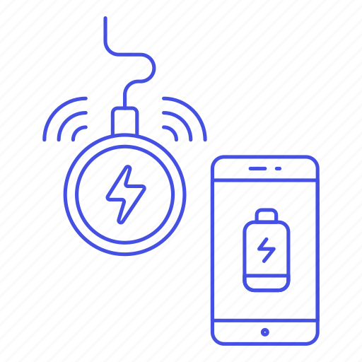 Battery, charge, charging, inductive, low, mobile, phone icon - Download on Iconfinder