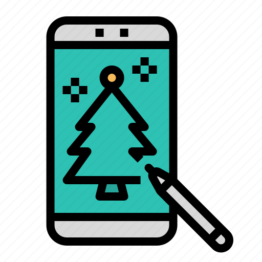 Cellphone, drawing, mobile, phone, smartphone icon - Download on Iconfinder