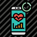 health, healthy, heart, measure, mobile icon