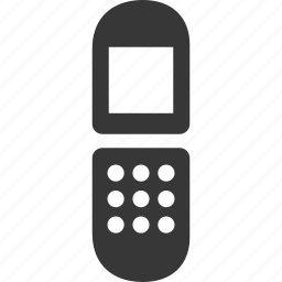 cell phone, flip phone, gsm, mobile phone, mobility, phone, raw, simple, telephone icon