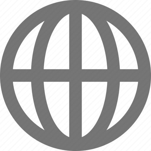 globe, gps, internet, location, material, navigation, network icon