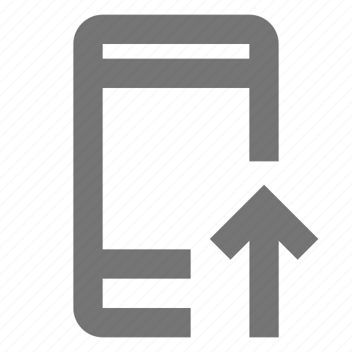 call, communication, contact, incoming, material, mobile, upload icon