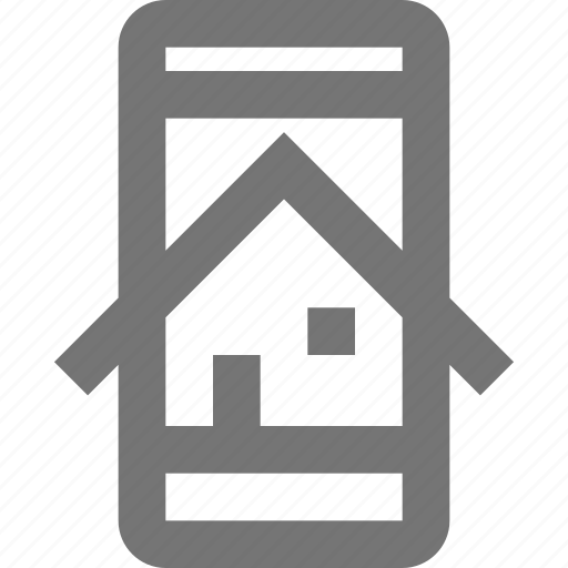 call, communication, contact, home, material, mobile, phone icon