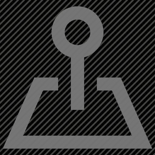 destination, location, material, navigation, pin, position icon