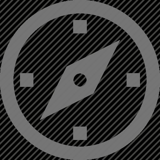 compass, destination, location, material, navigation, outline icon