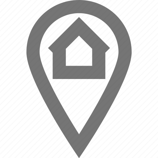 home, location, material, my position, navigation icon