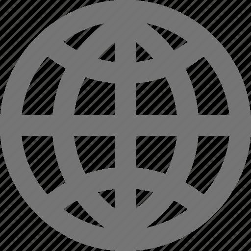 globe, internet, location, material, navigation, network, web icon