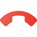 call, end, phone, telephone icon