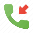 call, callmissed, incommingmissed, phone, telephone icon