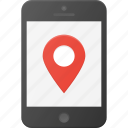 gprs, gps, location, mobile, phone, smart, smartphone icon