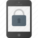 lock, mobile, phone, screen, smart, smartphone icon