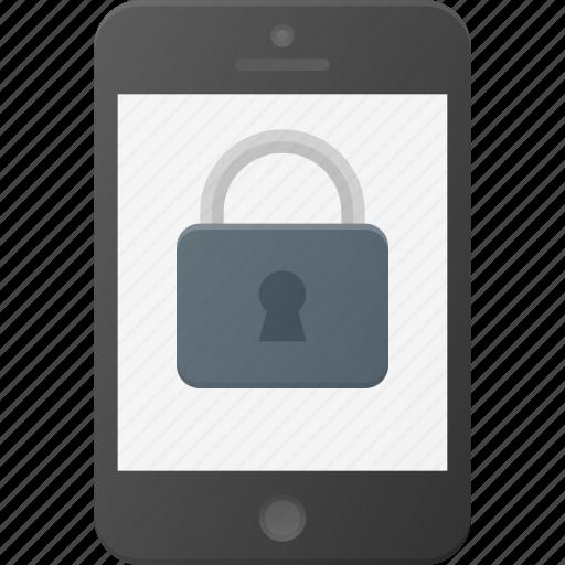 lock, mobile, phone, screen, smart, smartphone icon