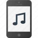 mobile, music, phone, smart, smartphone, sound icon