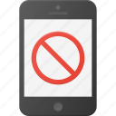 disable, mobile, no, phone, smart, smartphone icon
