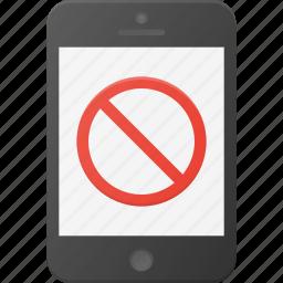 disable, mobile, no, phone, smart, smartphone icon