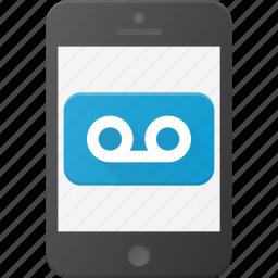 mobile, phone, record, smart, smartphone, sound icon