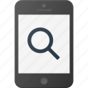 mobile, phone, search, smart, smartphone icon