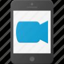 call, camera, mobile, phone, smart, smartphone, video icon
