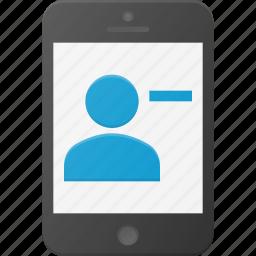 contact, phone, remouve, smart, smartphone icon