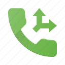 call, phone, split, telephone icon