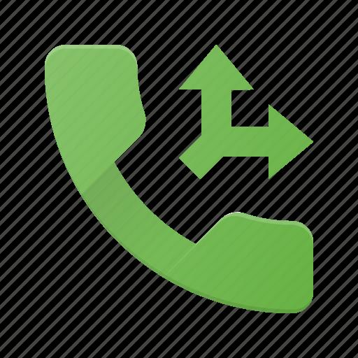 call, phone, split, telephone icon