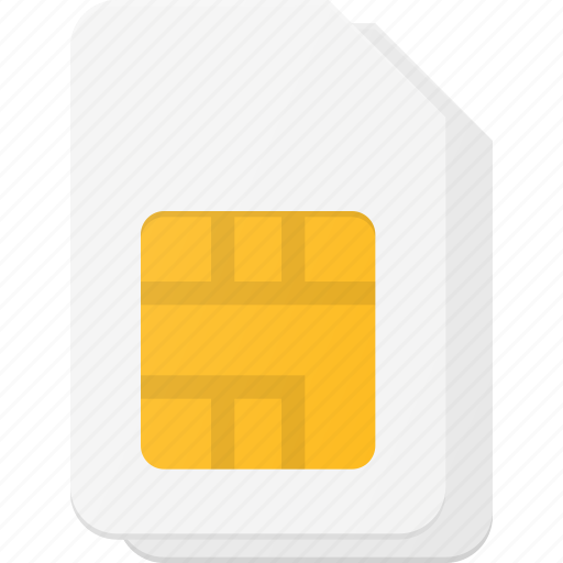 card, dual, mobile, sim icon