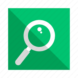 find, lens, magnifier, search, verify icon