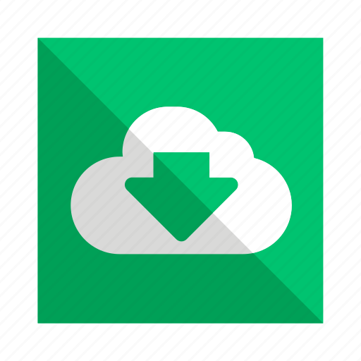 backup, cloud, download, storage icon