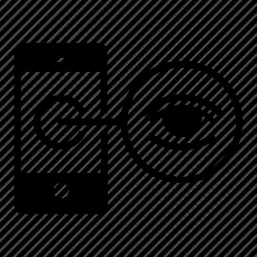 camera, readability, smart, surveillance, visibility, watch icon