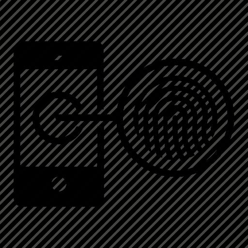 finger, id, login, mobile, print, tap, unlock icon