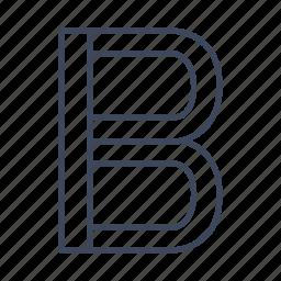b, bold, editing, font icon