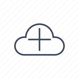 add, cloud, more, plus icon